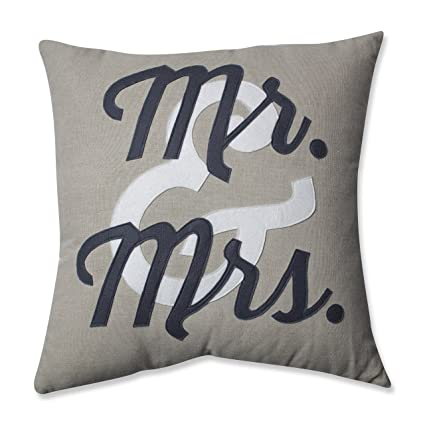 Amazon Pillow Perfect Mr And Mrs Throw Pillow 40Inch Home Inspiration Mr And Mrs Decorative Pillows