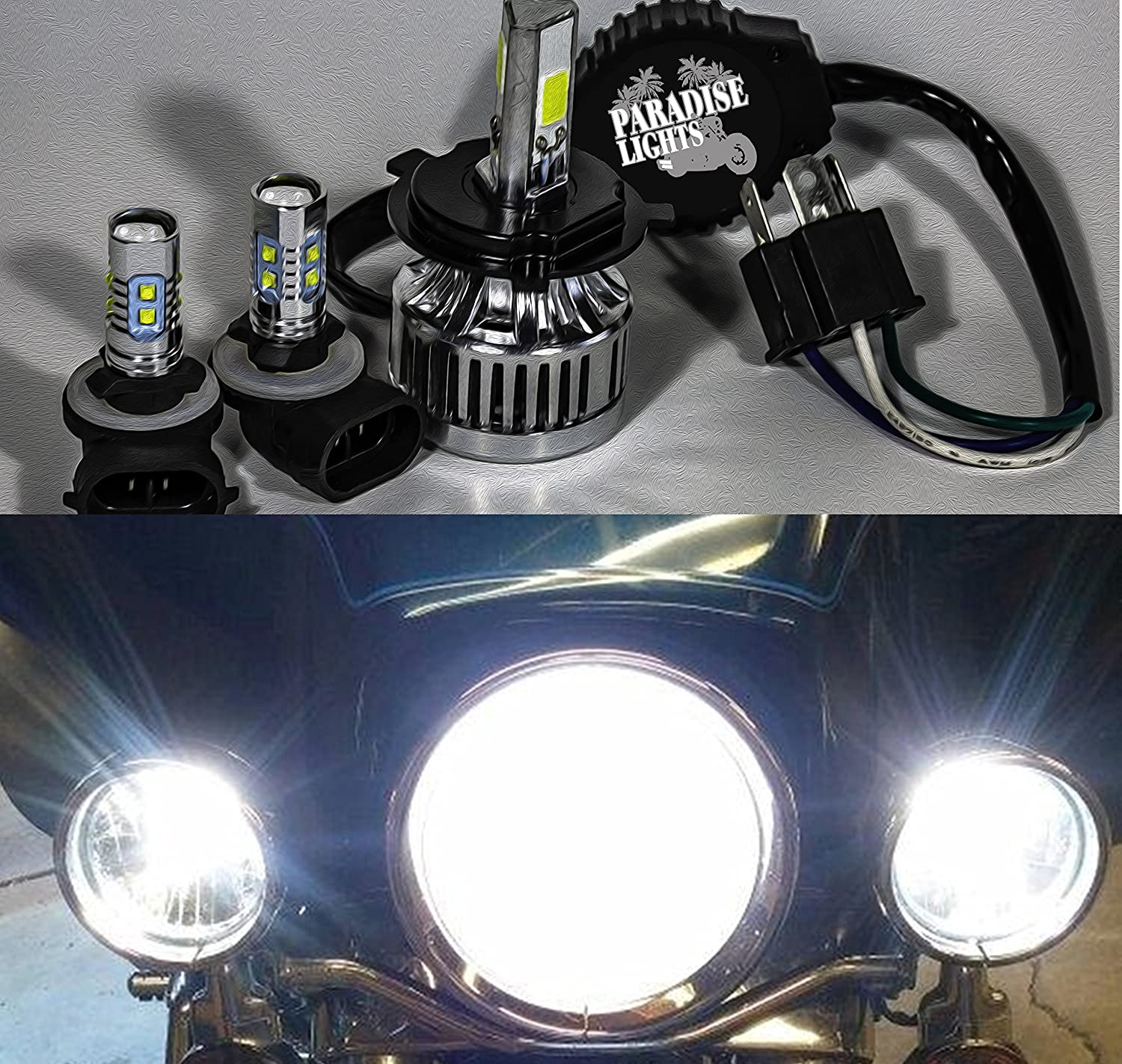 2006 And Up 3 Piece Super Bright Paradise Lights Us Ship Exciting Scout Crafts 1 Or 2 Led Headlamp Harley Electra Glide Ultra Classic Heritage Softail Flh Flhx Flhrs Flhtc Flhtcu Complete Bulb Set Automotive