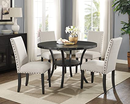 Amazon Com Roundhill Furniture D162ta Biony Dining Collection