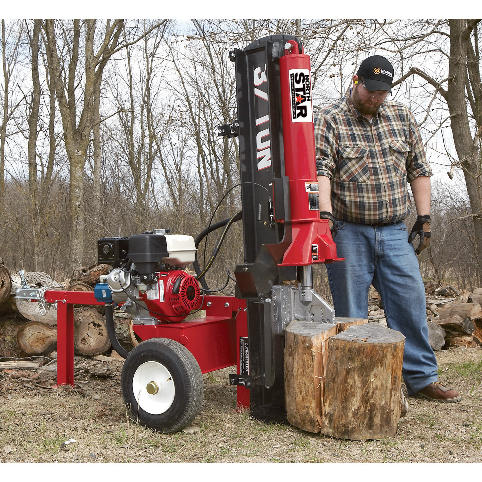 NorthStar Horizontal/Vertical Log Splitter - 37-Ton, 270cc Honda GX270 Engine