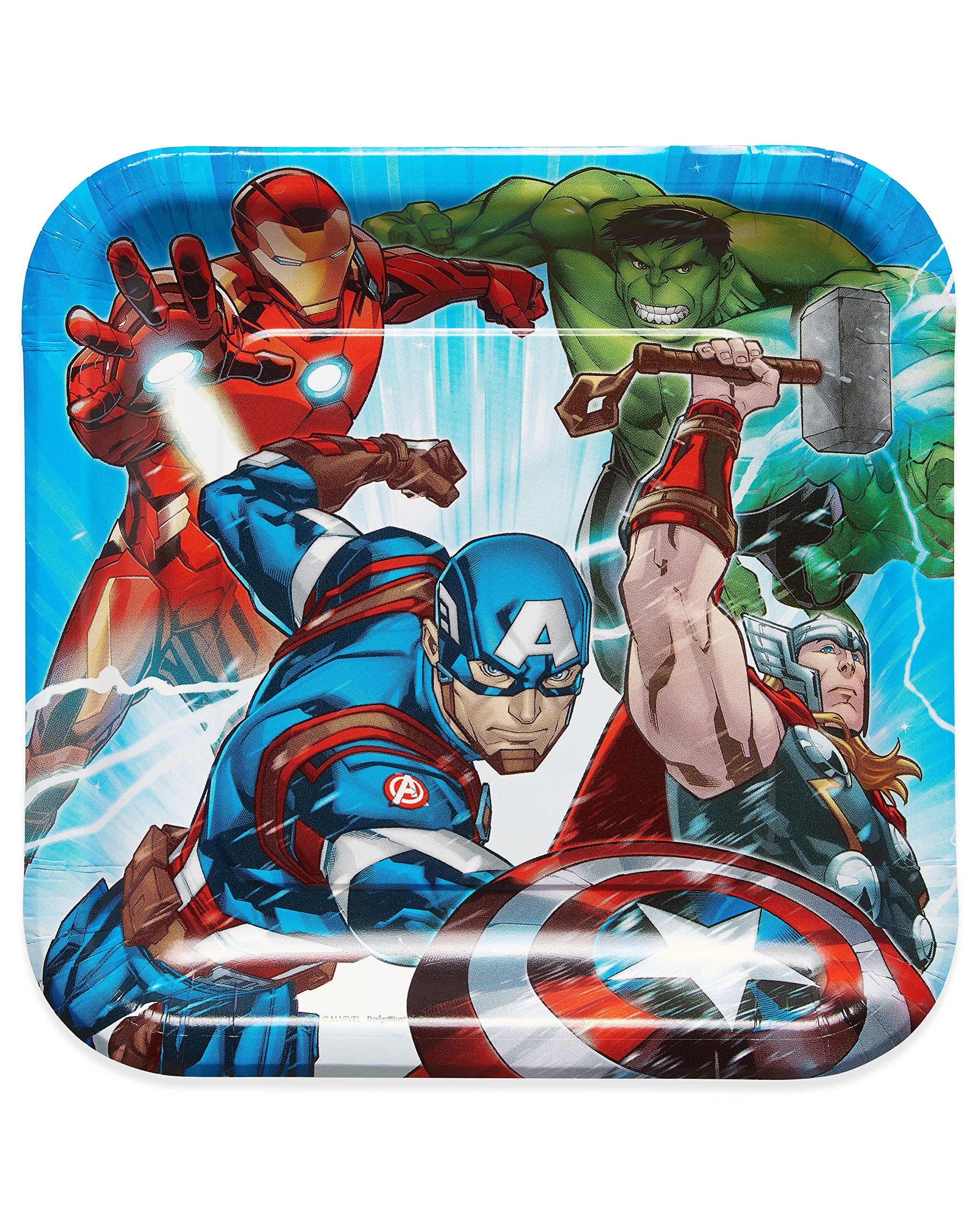 American Greetings Avengers Epic Paper Dinner Plates, 8-Count