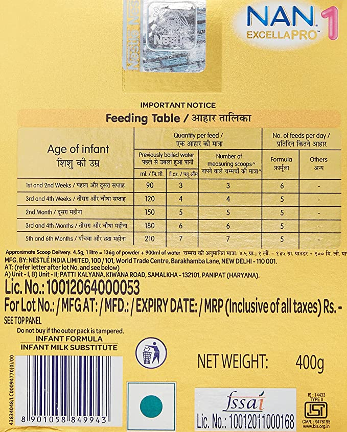 Buy nestle nan excella pro 1 follow up infant formula 400 g online buy nestle nan excella pro 1 follow up infant formula 400 g online at low prices in india amazon fandeluxe Choice Image