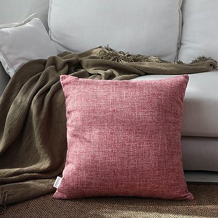 Amazon.com: Kevin Textile Decor Lined Linen Euro Throw Pillow Cover ...