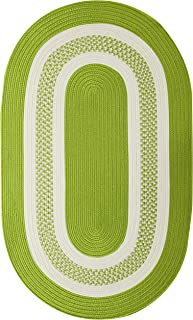 product image for Crescent Oval Area Rug, 12' x 15', Bright Green
