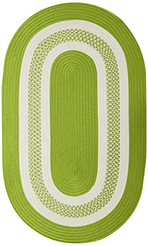 Crescent Oval Area Rug, 4 by 6-Feet, Bright Green