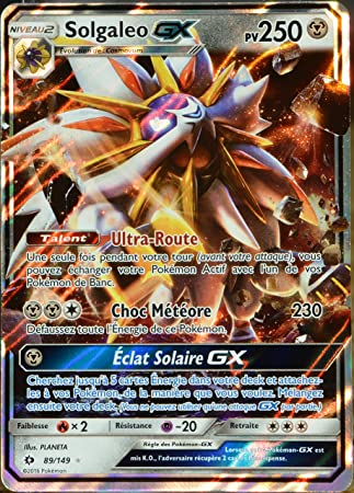 carte pokemon gx prix carte Pokémon 89/149 Solgaleo GX 250 PV: Amazon.fr: Jeux et Jouets