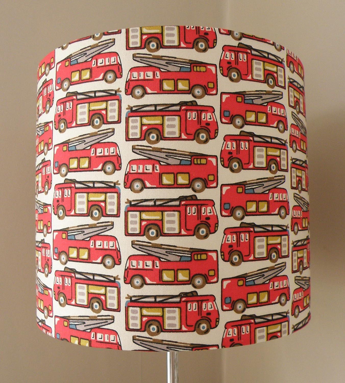 Fire Engine Lampshade - Cath Kidston Fabric 20cm, 30cm or 40cm