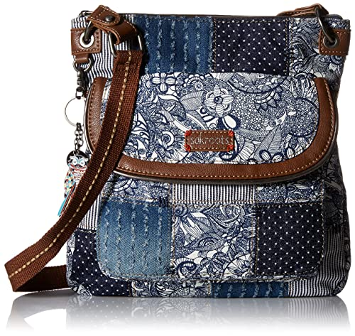 Sakroots Artist Circle Flap Crossbody, Navy Spirit Desert Patch