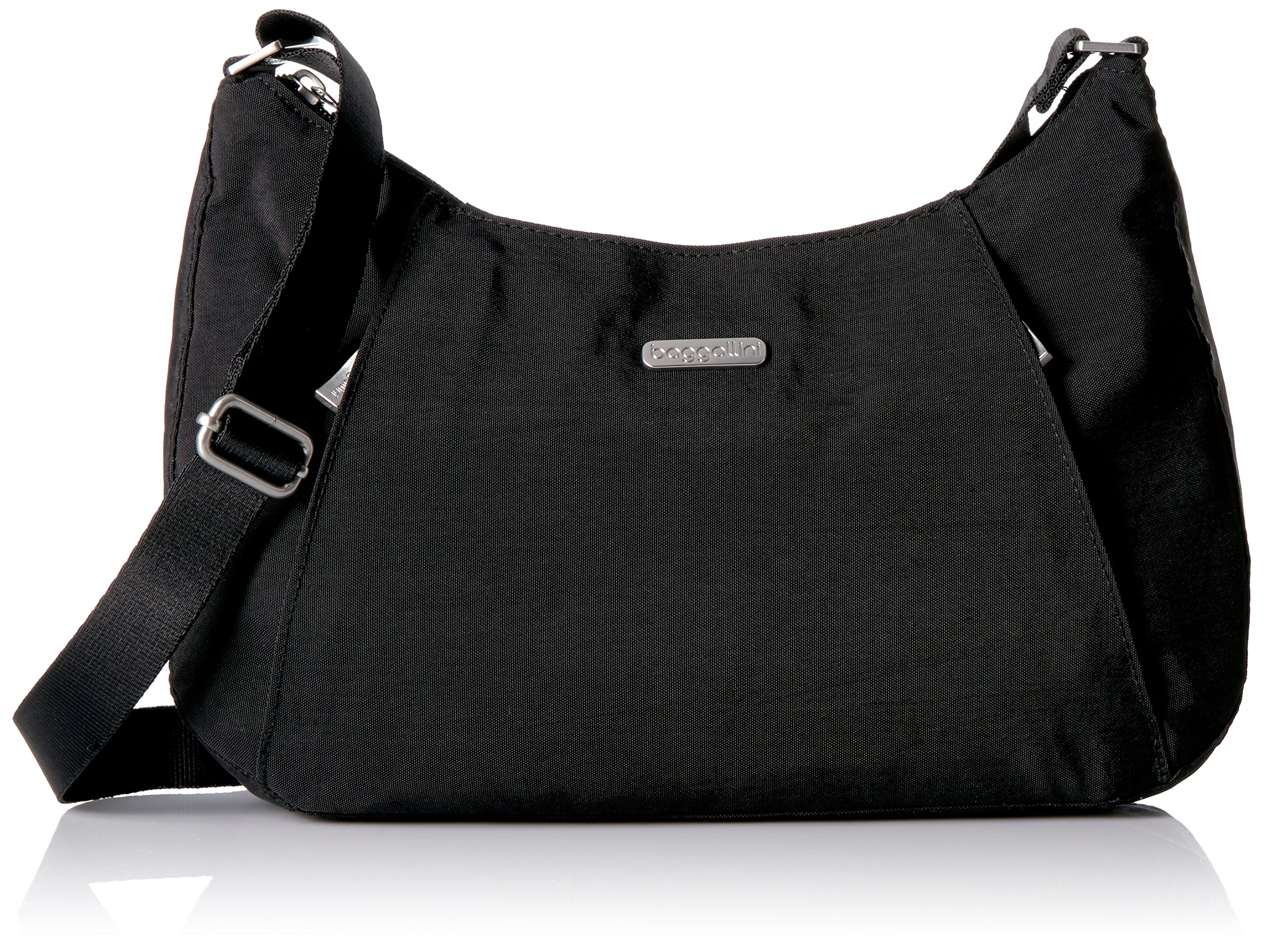 Baggallini Slim Crossbody Hobo, Black