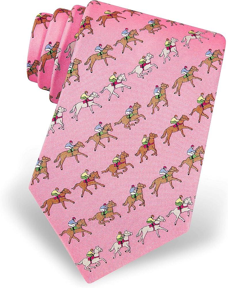 Corbata de seda para hombre, diseño de animales, color rosa ...