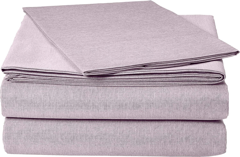 Amazon Basics Chambray Purple Bed Sheet