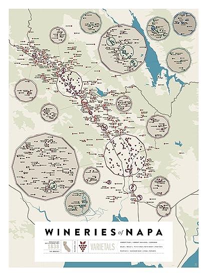 Amazoncom Pop Chart Lab Napa Wine MapWineries of Napa Poster
