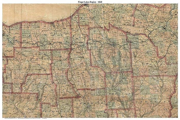 Map Of New York Finger Lakes Region.Amazon Com Finger Lakes Region 1860 French Smith Old Map