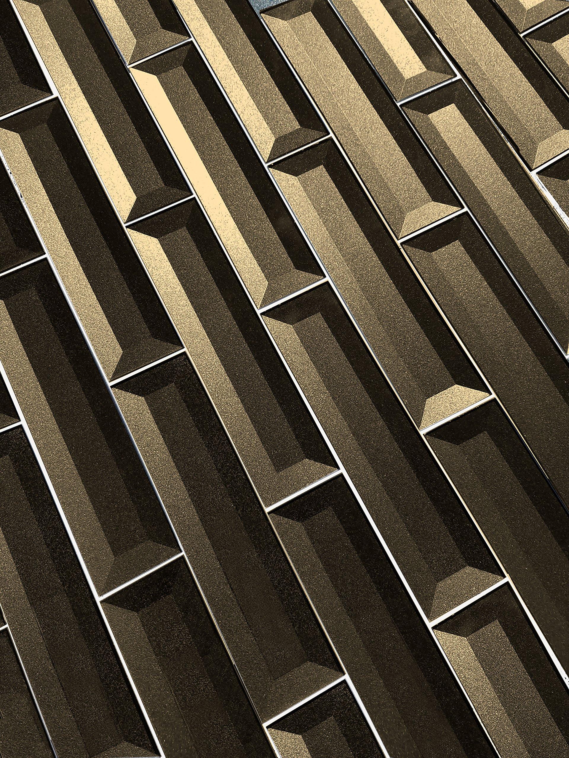 Abolos Inner Bevel 3D Glass Subway Tile Kitchen Bathroom Backsplash Home, 2'' W x 8'' L, 12.54 Sq. Ft, 114 Piece AMZJAB0208-BR 2'' W x 8'' L, 2'' W x 8'' L, Bronze by Abolos