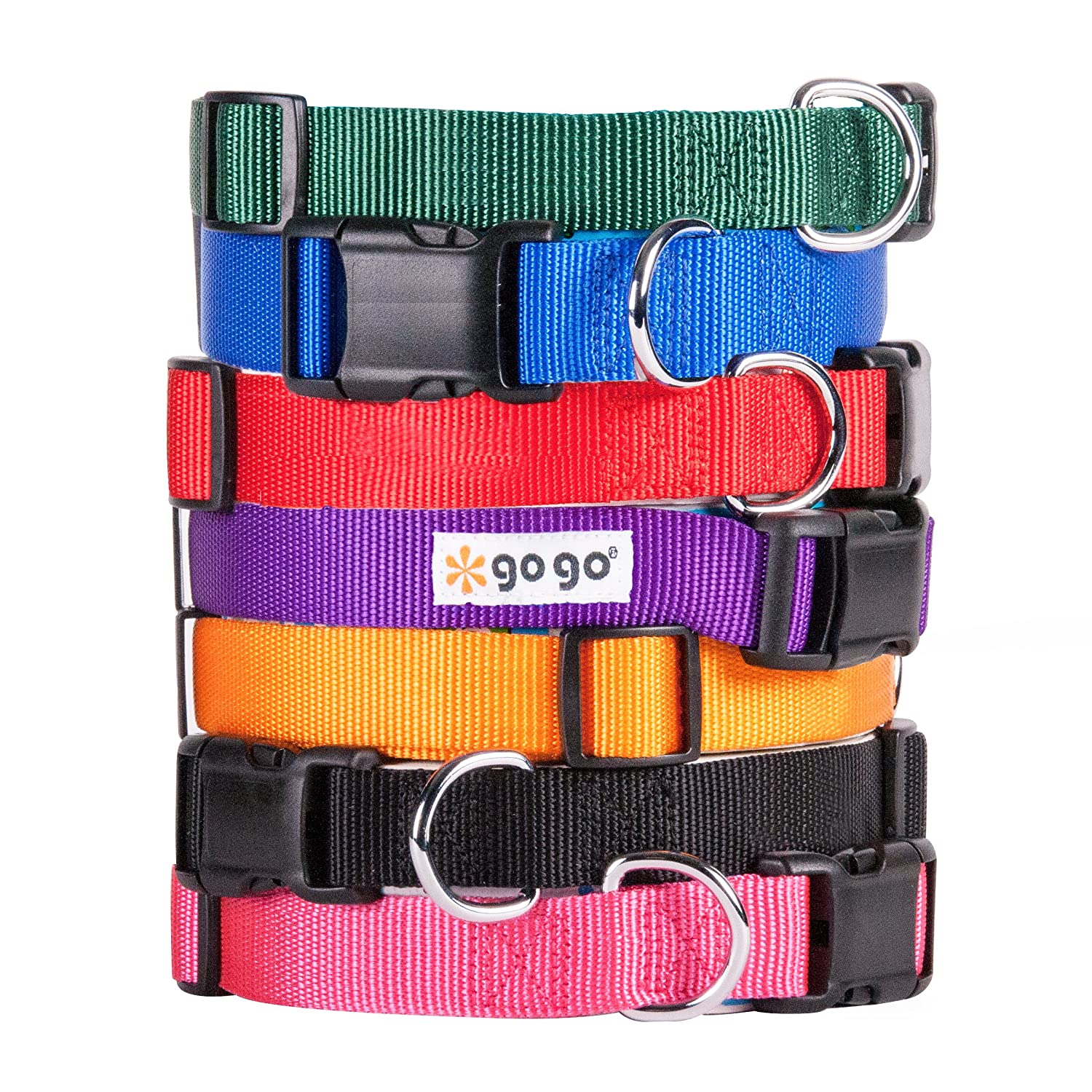 GoGo Pet Products Comfy Nylon 3 8-Inch Adjustable Pet Collar, X-Small, bluee