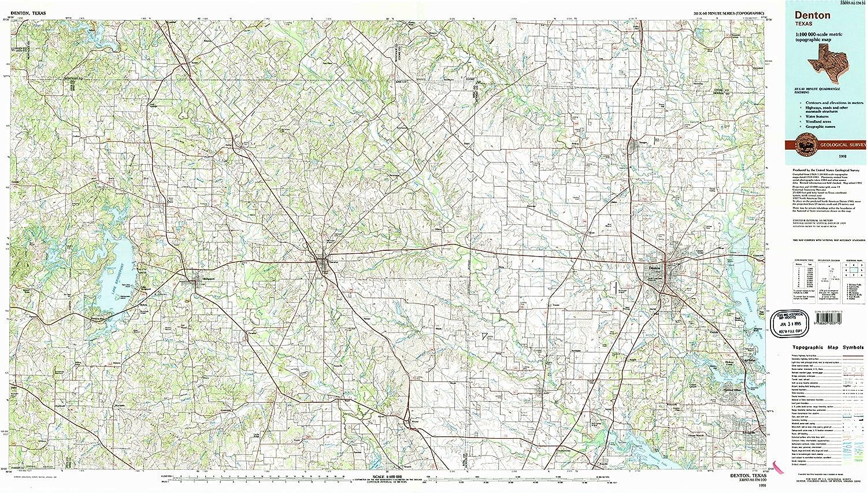 Amazon Com Yellowmaps Denton Tx Topo Map 1 100000 Scale 30 X