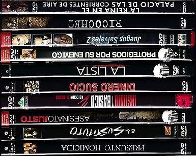 PACK 10 DVD Películas de segunda mano POLICIACA-THRILLER: Amazon.es: Cine y Series TV