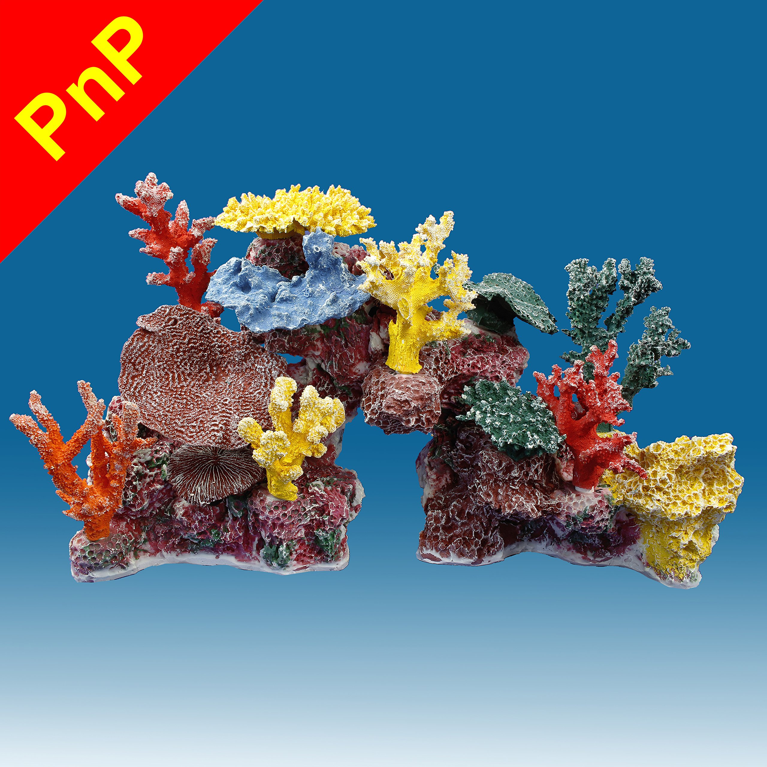 Instant Reef DM045PNP Large Artificial Coral Inserts Decor, Fake Coral Reef Decorations for Colorful Freshwater Fish Aquariums, Marine and Saltwater Fish Tanks by Instant Reef