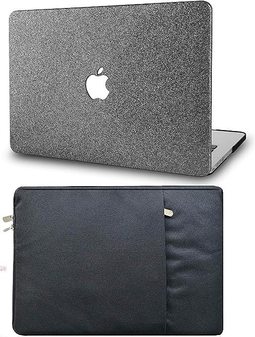 KEC - Funda rígida para MacBook Grey Sparkling with Sleeve A1989/A1706/A1708 Mac Pro 13