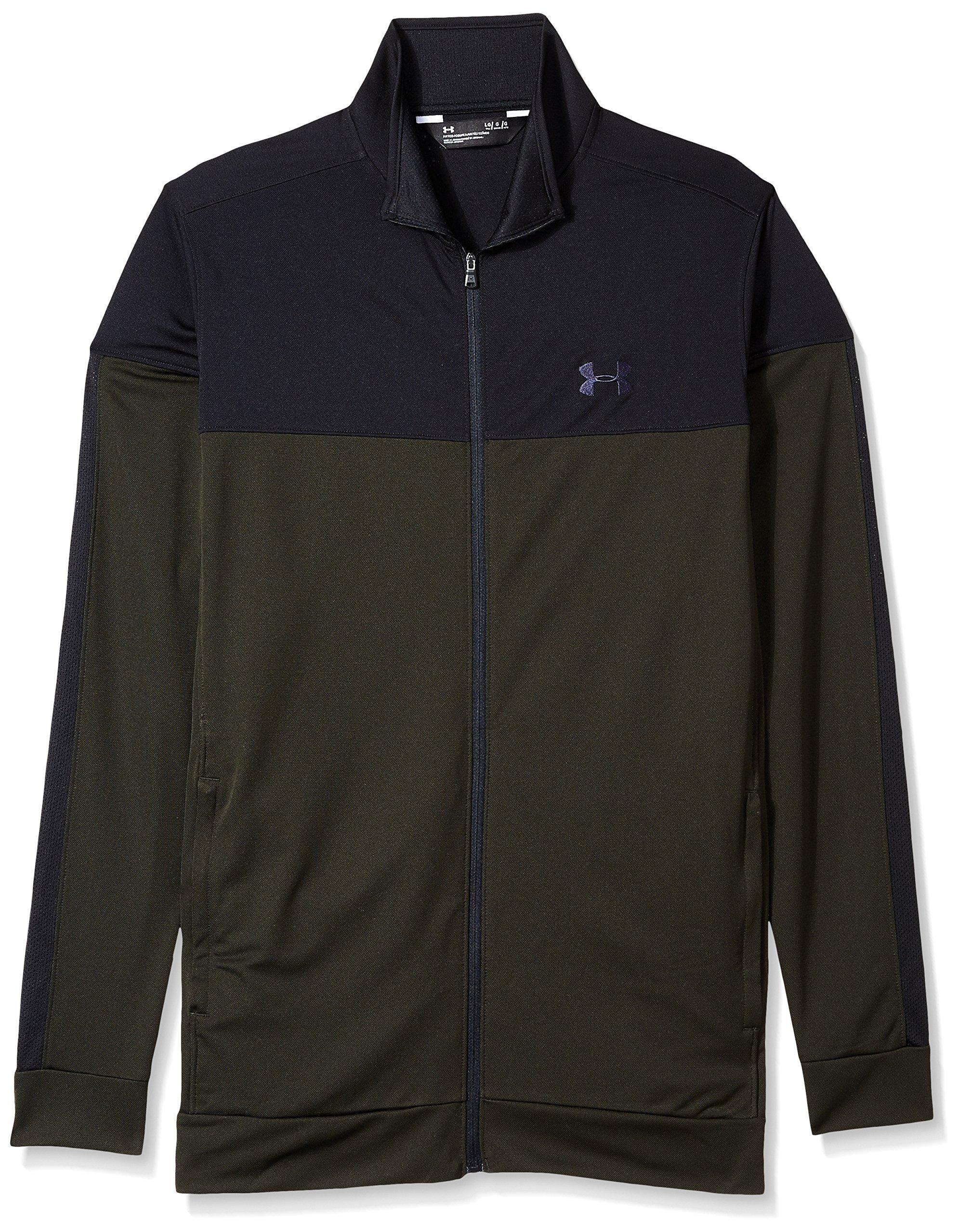 Under Armour Men's Sportstyle Pique Jacket, Artillery Green (357)/Black, Small