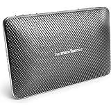 Harman/Kardon Esquire 2 - Sistema portátil de altavoces inalámbricos (Bluetooth, recargables, micrófono 360 grados para conferencias integrado), color gris
