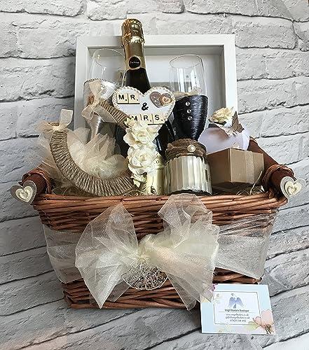 Wedding Gift Basket Hamper Mr And Mrs Bride Groom