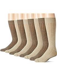 Dockers Men's Dress Wide Rib Crew Socks, 8 Pair