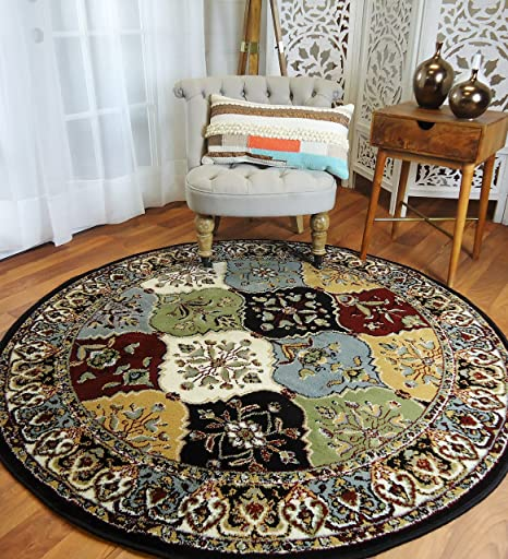 Amazon Round Rugs 6ft Multi Color Rug Circle For Living Room And Dining Clearance 5x5 Ft Kitchen