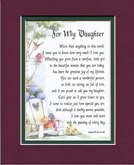 Buy A Poem Gift 16th 18th 21st 30th Birthday Present For Daughter 47 By Genies Poems Online At Low Prices In India