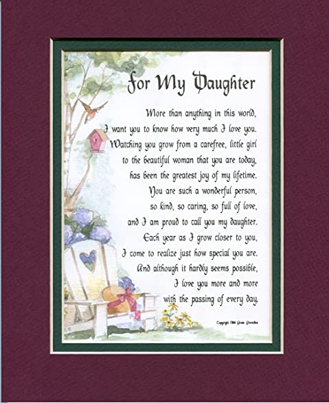 Amazon A Poem Gift 16th 18th 21st 30th Birthday Present For A – Daughter 30th Birthday Card