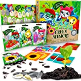 Seeds Of Adventure Matching Memory Game with SEEDS 10 Variety Pack of organic seeds, Educational & Interactive Card Game with Gardening Experience