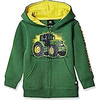 John Deere Tractor Infant Toddler Boy Zip Front Fleece Hoody Sweatshirt