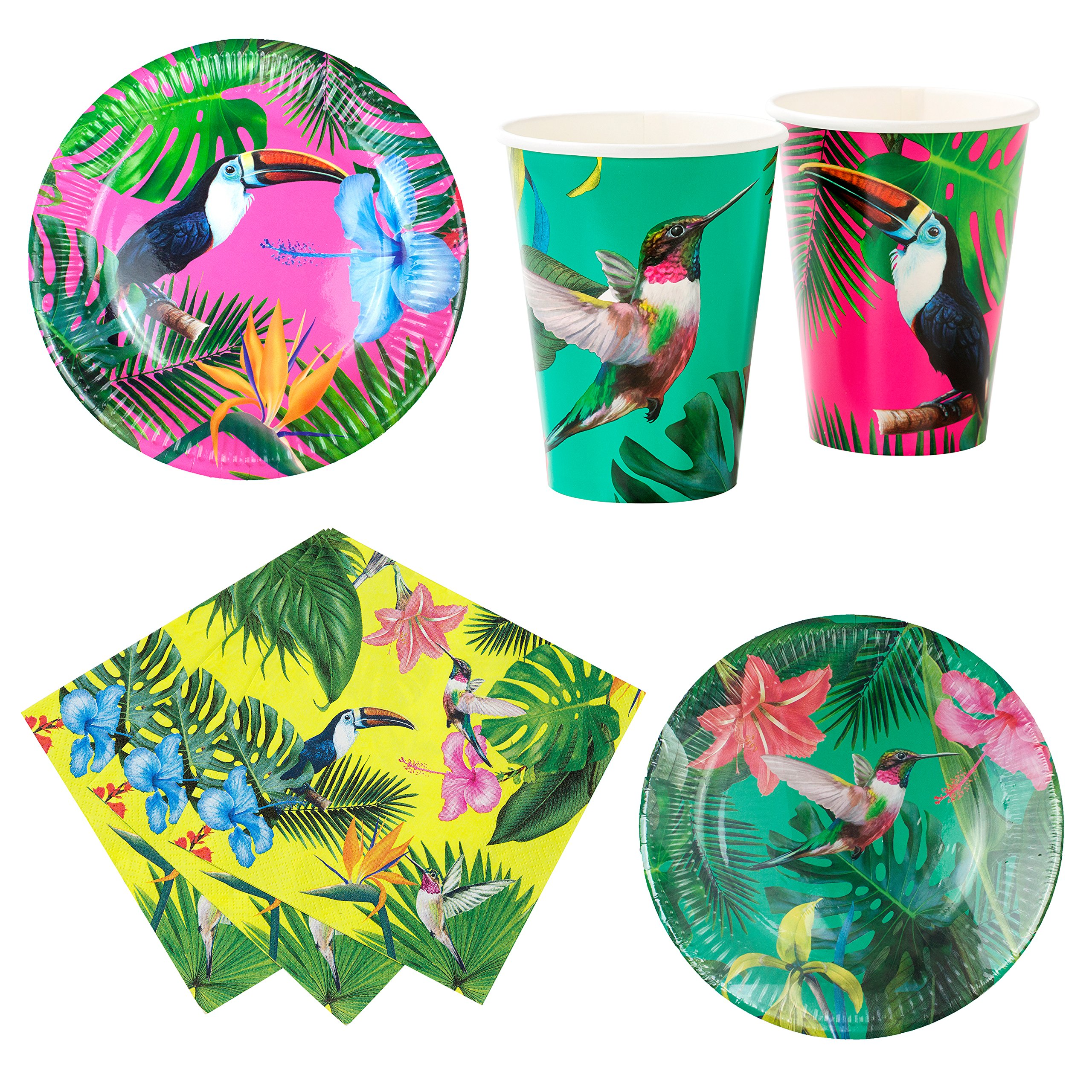 Talking Tables Tropical Fiesta Party Bundle For Birthdays, BBQ, Pool Parties & Other Celebrations | Bright Paper Plates, Napkins & Cups