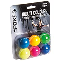 Fox TT de Pelotas de Tenis de Mesa (6Unidades), Multicolor