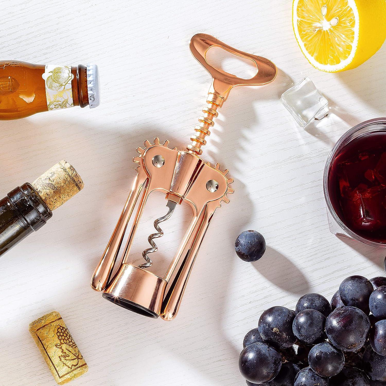 Amazon.com: Hanee Rose Gold Wing Corkscrew Wine Opener Wine ...