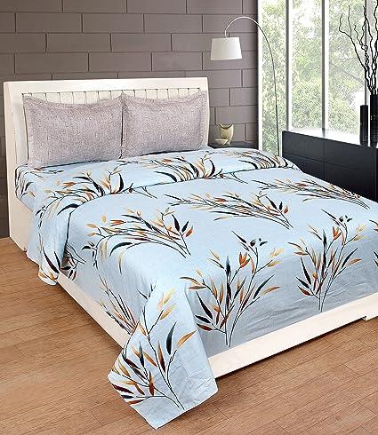 Grapes The Linen Grapes Premium Cotton King Size Double Bed Sheet
