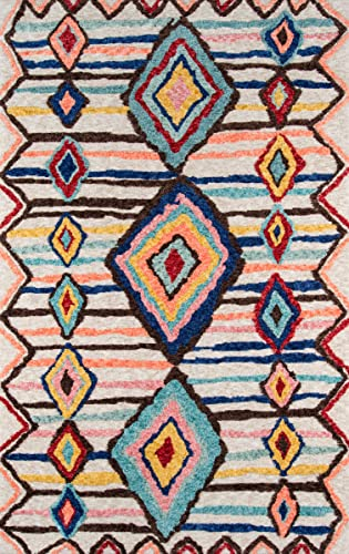 Momeni Rugs Margaux Table Tufted Contemporary Geometric Area Rug, 2 0 x 3 0 , Multicolor