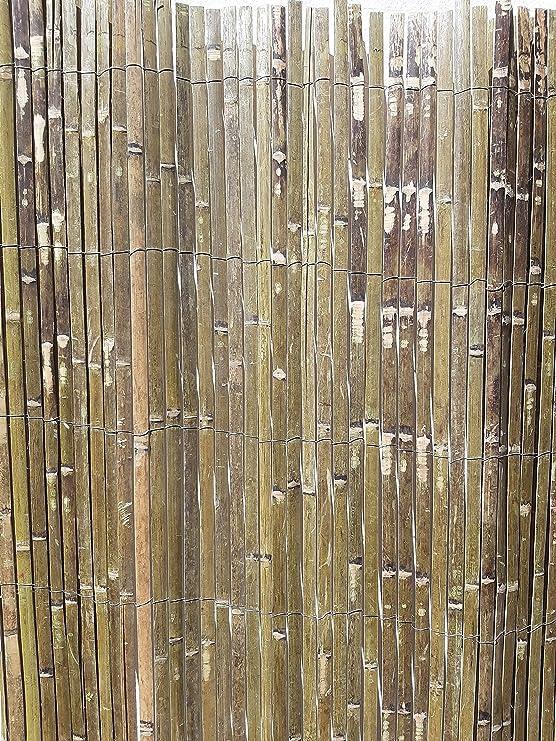 Servidor de jardín de bambú valla de rollos de papel para 1, 8 m de alto y 3, 8 m de largo: Amazon.es: Jardín