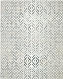 Rivet Modern Geometric Wool Rug, 4' x 6', Blue