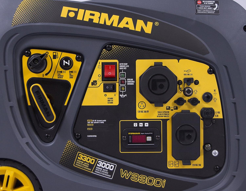 Amazon.com: Firman W03083 Whisper Series 3000/3300 Watt Inverter Generator, Yellow: Garden & Outdoor