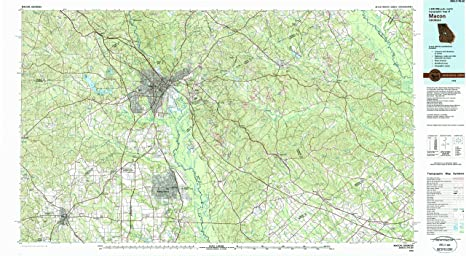Amazon Com Yellowmaps Macon Ga Topo Map 1 100000 Scale 30 X 60