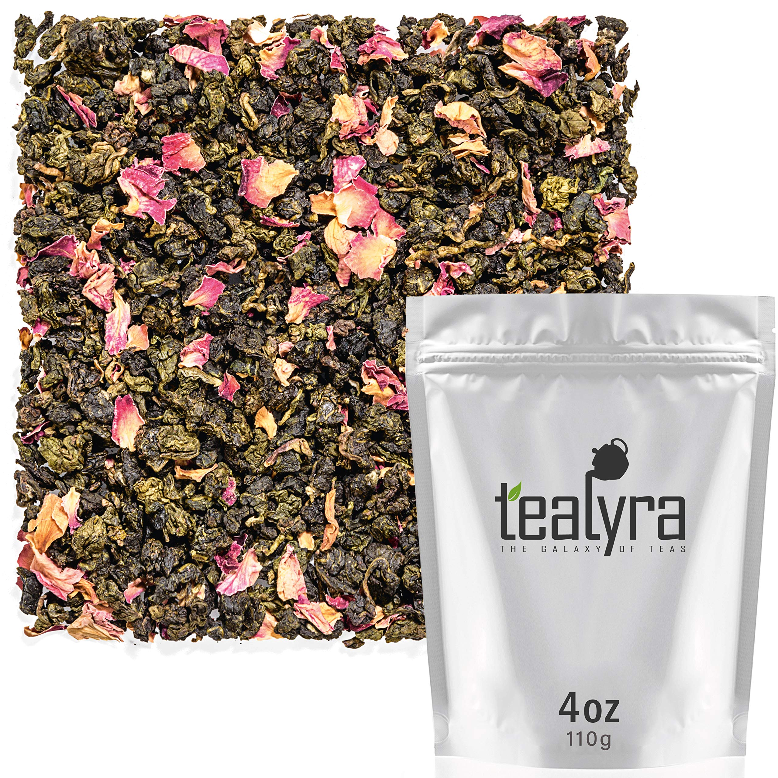 Tealyra - Oriental Cherry Oolong - Rose Petals - Loose Leaf Tea - Medium Caffeine - 112g (4-ounce)