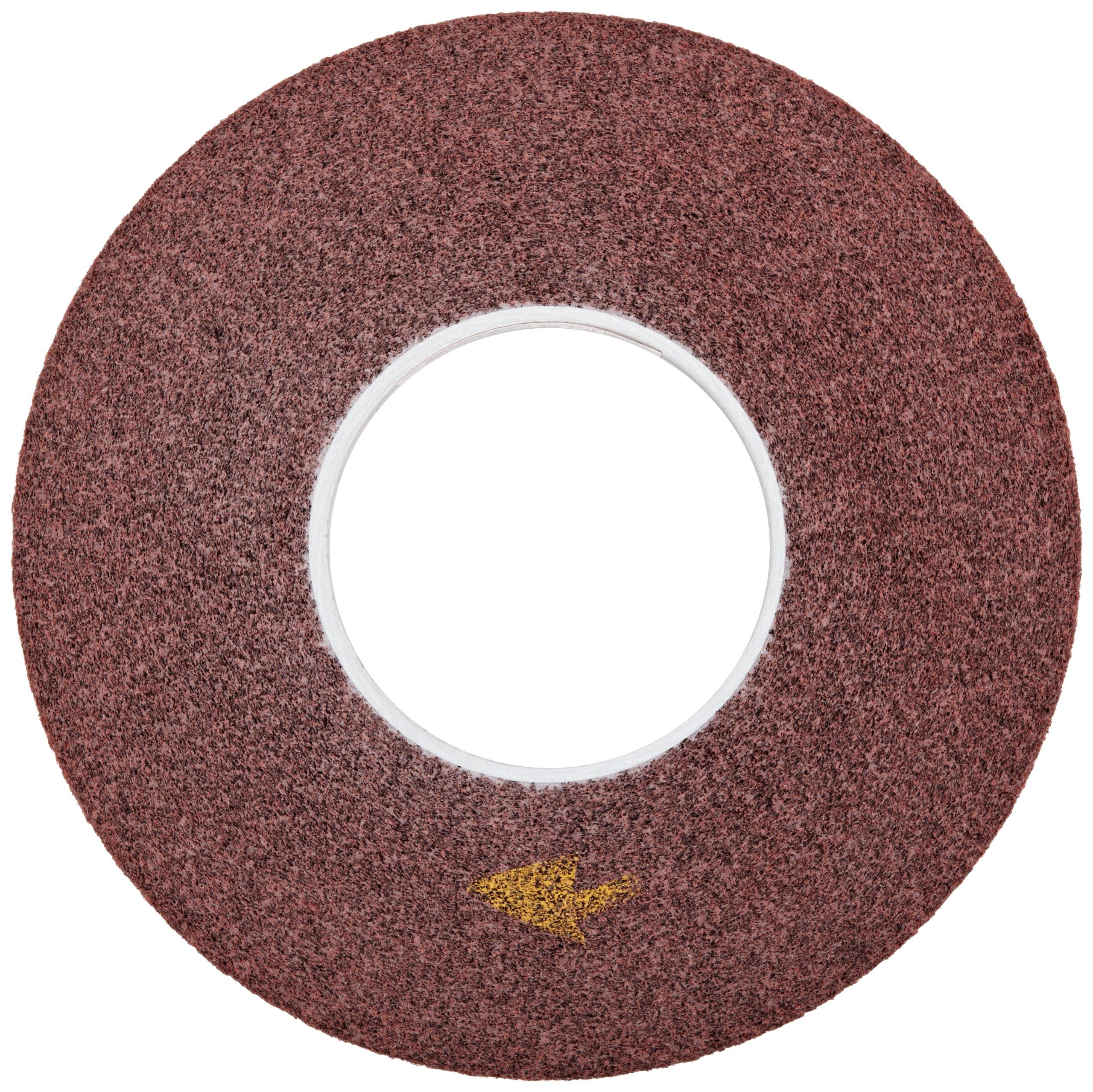 Scotch-Brite(TM) Metal Finishing Wheel, Aluminum Oxide, 3000 rpm, 12 Diameter x 1 Width, 5 Arbor, 5A Medium Grit (Pack of 1)