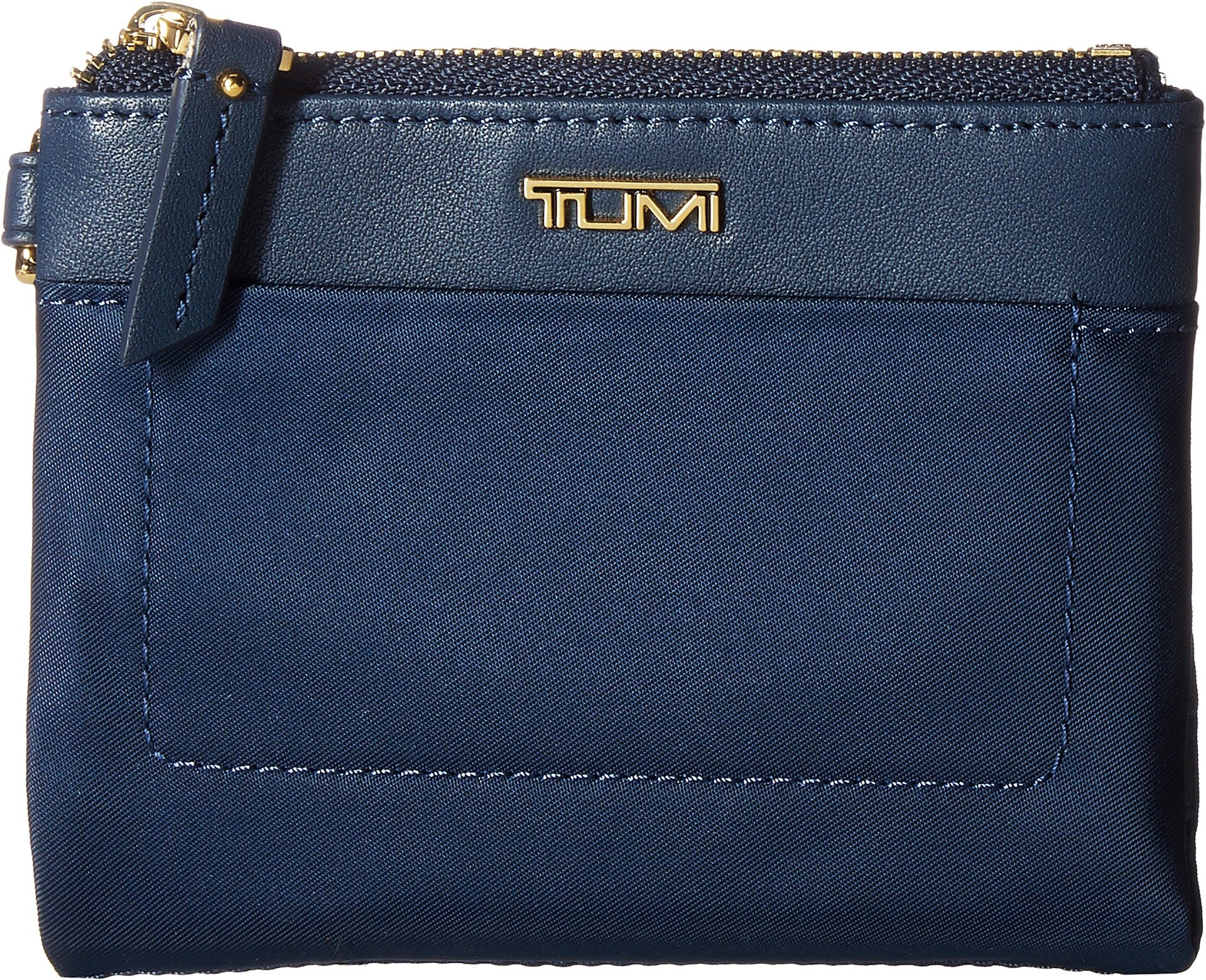 Tumi Women's Voyageur Double Zip Wallet Ocean Blue One Size by Tumi