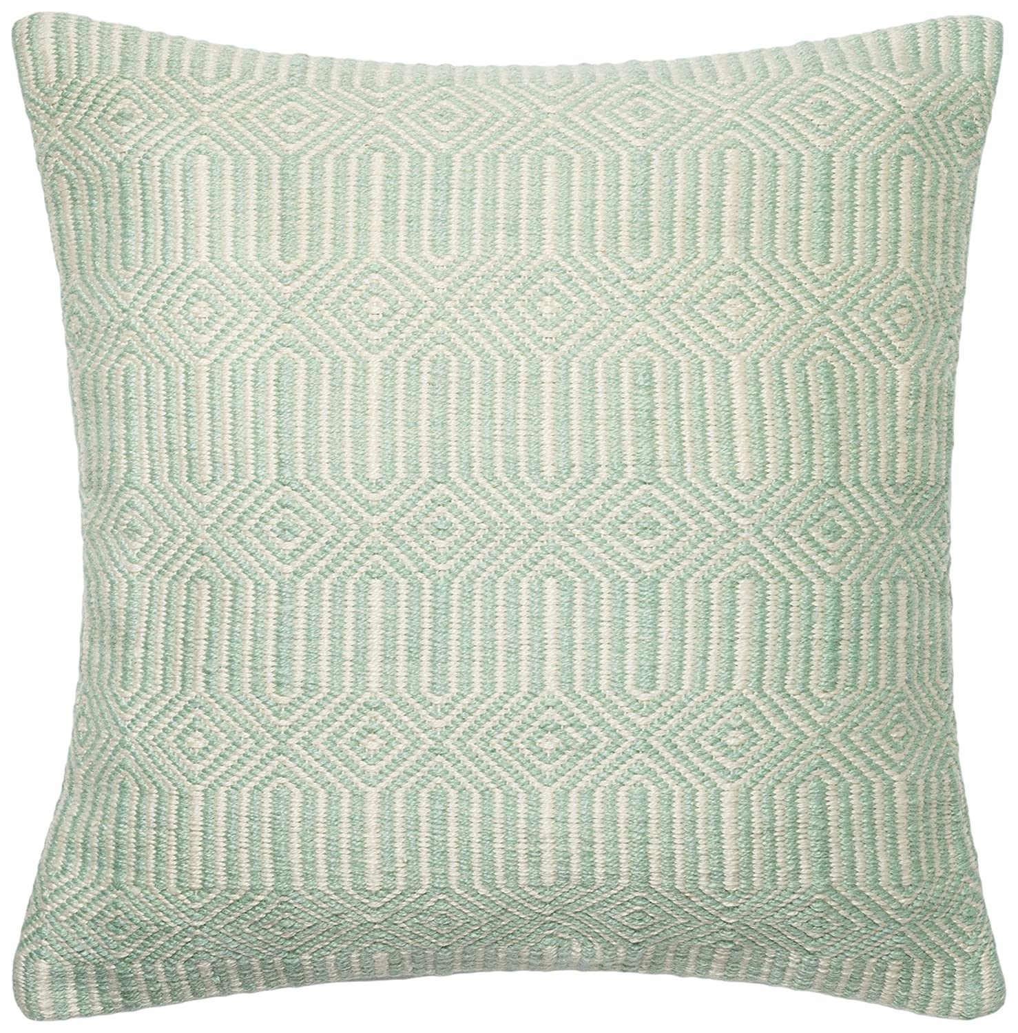 Aqua//Ivory 22 x 22 Loloi DSET DSETP0339AQIVPIL3 100/% Polyester Cover and Down Fill Decorative Accent Pillow