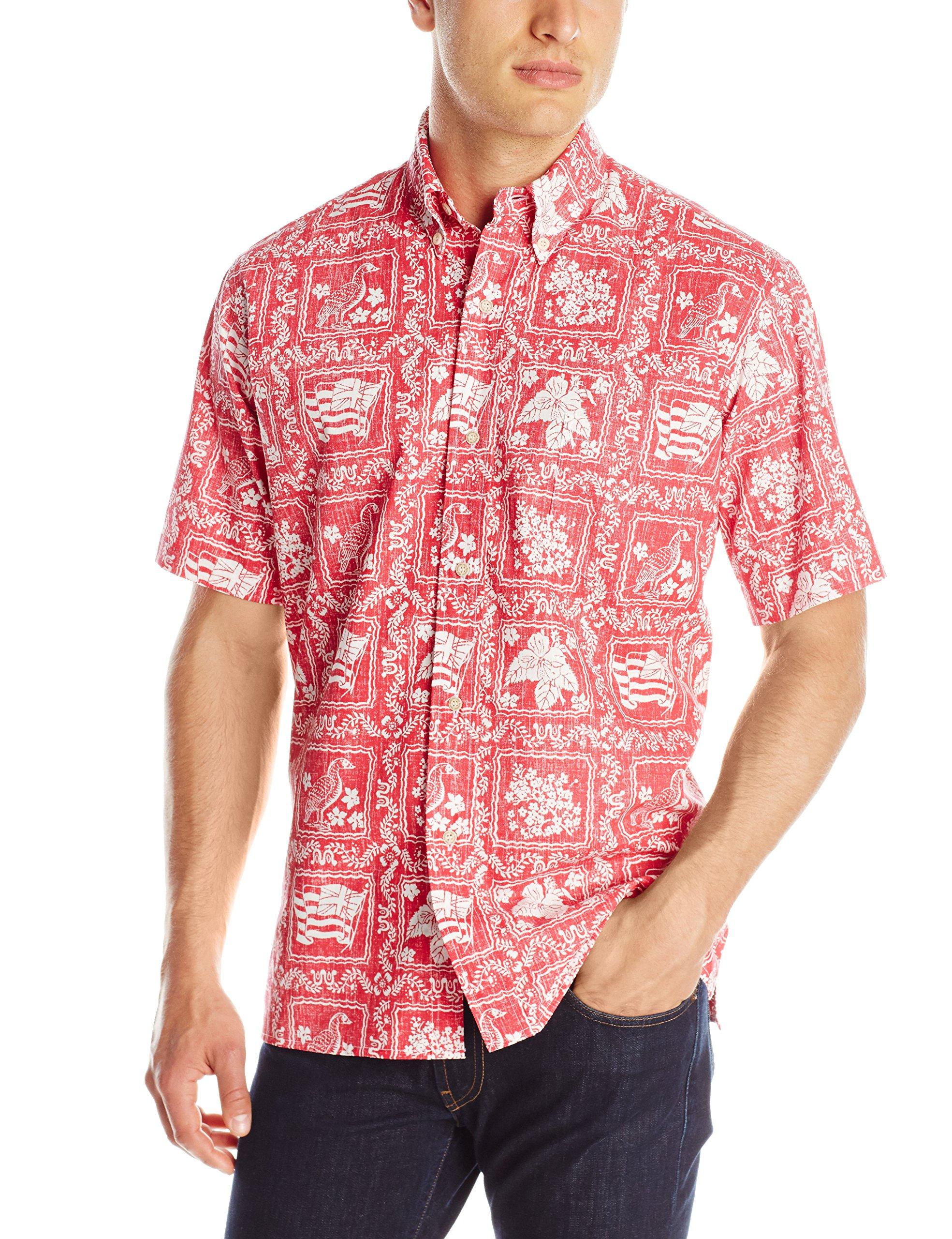Reyn Spooner Men's Lahaina Sailor Shirt, Red, XX-Large