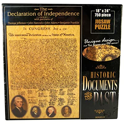 American Documents The Declaration of Independence Jigsaw Puzzle, 750-Piece: Toys & Games