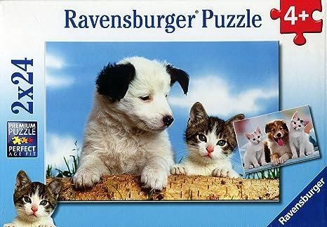 Ravensburger Perros y gatos, puzzle de 2 x 24 piezas (08931 4)
