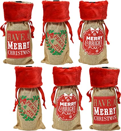 Xng Christmas Party 2020 Amazon.com: Christmas Wine Bottle Bag Covers, Pack of 6 Holiday