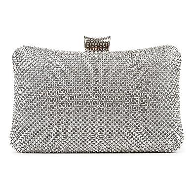 d0081f1abda BAIGIO Sparkle Rhinestone Evening Clutch Purse Elegant Diamante Evening Bag  Party Wedding Purses Handbag for Women
